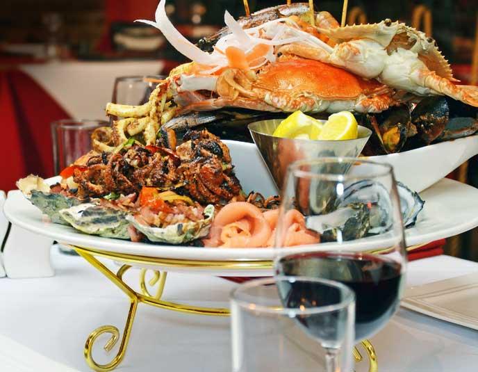 Seafood at Frank's Ristorante